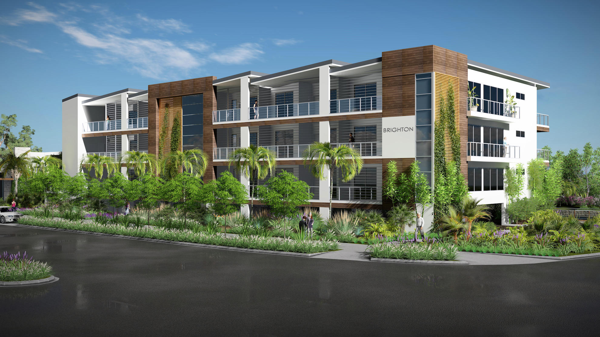 Sunshine Cove Street Corner project by mdesign, a building design practice that operates on the Sunshine Coast.